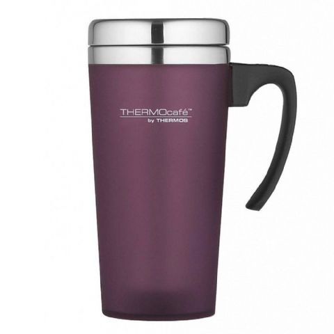Thermos Thermocafe Zest Purple Soft Grip Travel Mug Cup 420ml